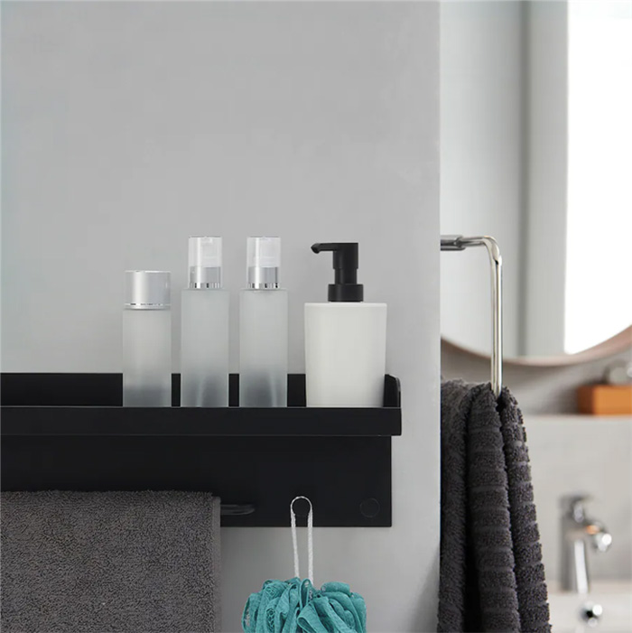 Finningen shelf for shower walls and storage of gels and shampoo