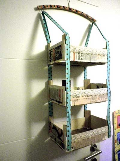 20 ideas para decorar con cajas recicladas mil ideas de - Estanterias originales de pared ...