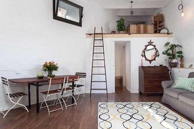 Garaje convertido en vivienda de diseño. Interiorismo