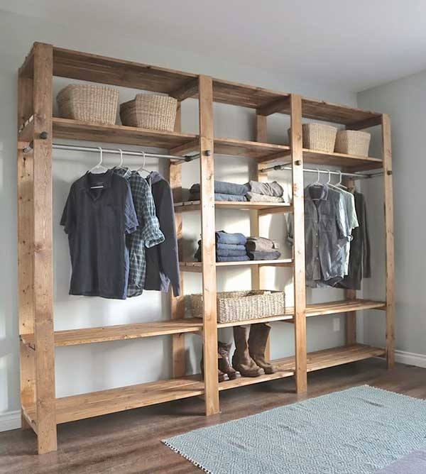 10 ideas para hacer un closet o armario barato. Black Bedroom Furniture Sets. Home Design Ideas