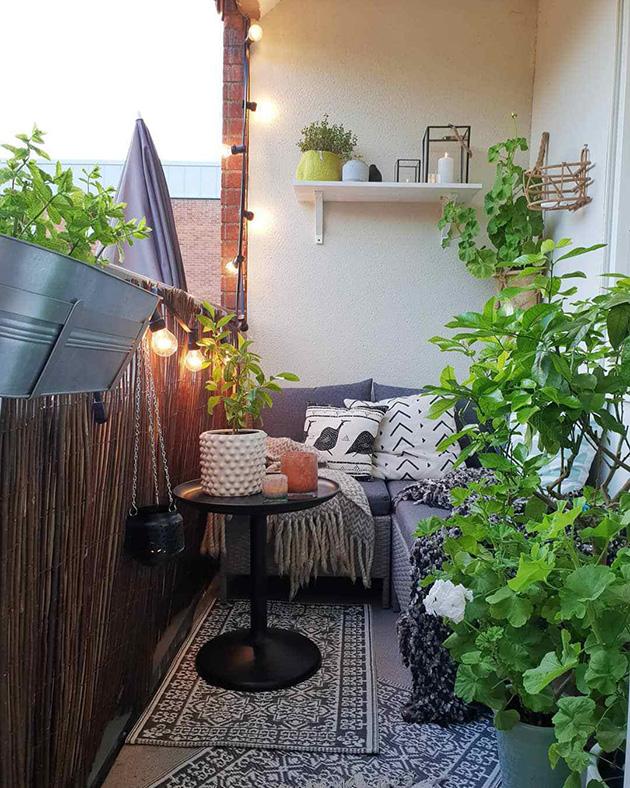 Una terraza pequeña bien aprovechada