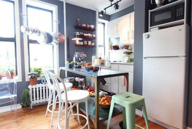 Idea para organizar y almacenar en una cocina pequeña