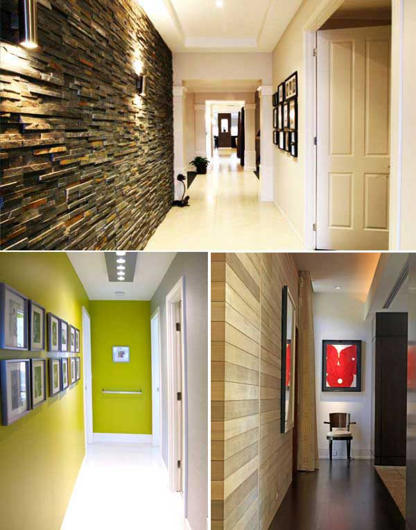 50 ideas para pintar y decorar un pasillo estrecho for Decoracion de la pared para el exterior