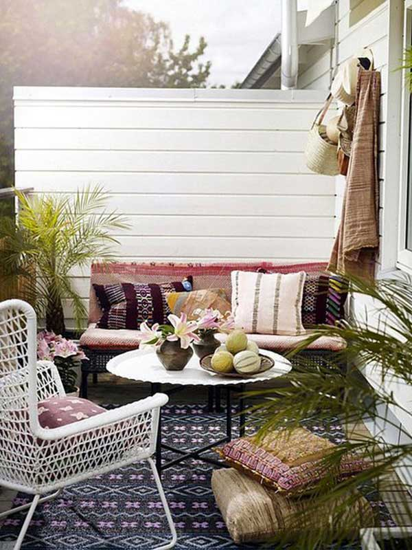 30 ideas para decorar una terraza peque a for Ideas para decorar paredes de jardin