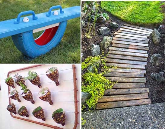 10 proyectos diy para decorar el jardn con objetos reciclados mil ideas de decoracin - Como Decorar Un Jardin