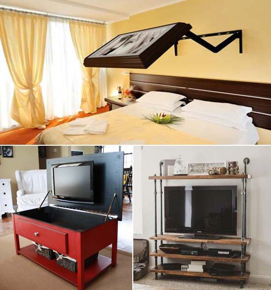 Ideas para colocar una tv de plasma en dormitorios peque os for Decoracion de dormitorio pequeno para adulto