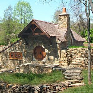 Casas reales de hobbits mil ideas de decoraci n Stone cottage kit homes