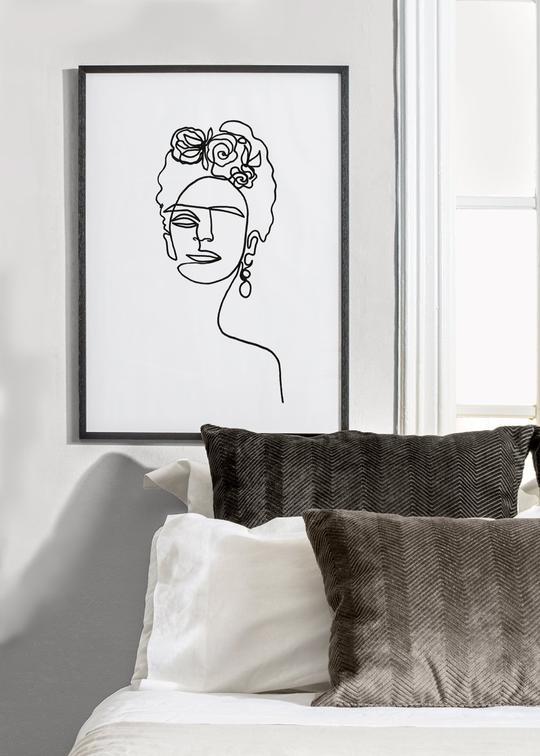 Lámina minimalista Frida Kalho