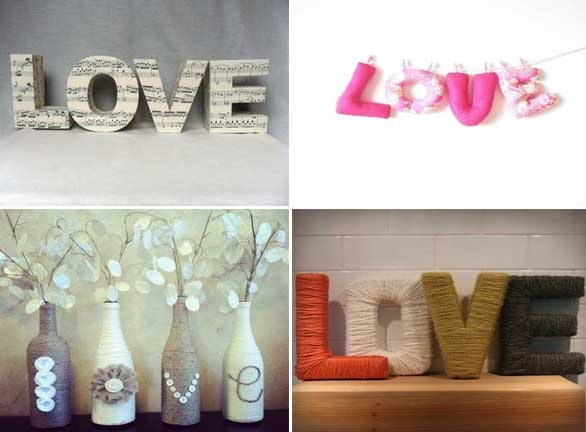 Decoracion Letras Home ~ 25 Ideas Muy Chic Para Decorar Con La Palabra Love Mil  Share The