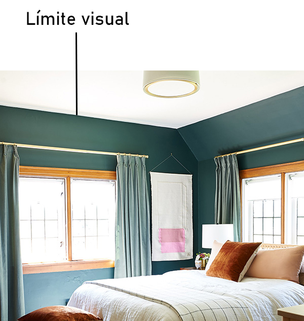 Paint your room to make it look bigger: the ceiling paint from ceiling to wall