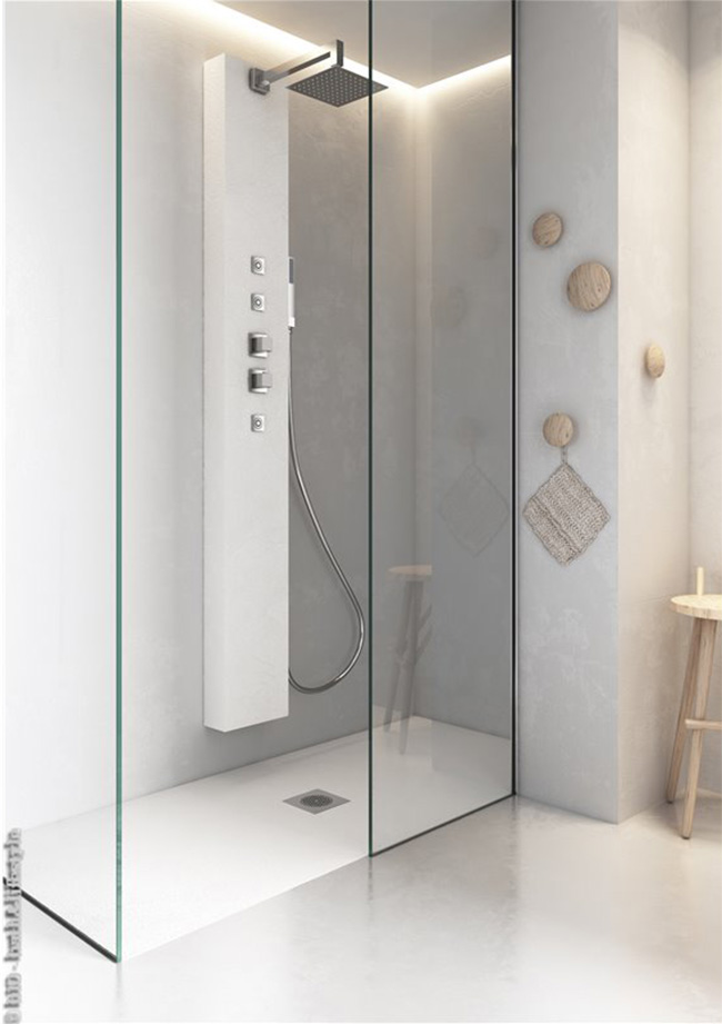 Fixed shower screen without profiles