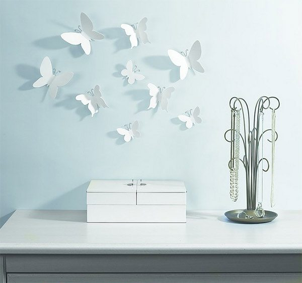 Mariposas en 3d para decorar las paredes mil ideas de for Pegatinas para paredes de dormitorios