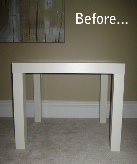 Redecorar la mesa lack de ikea para convertirla en un for Mueble lack ikea