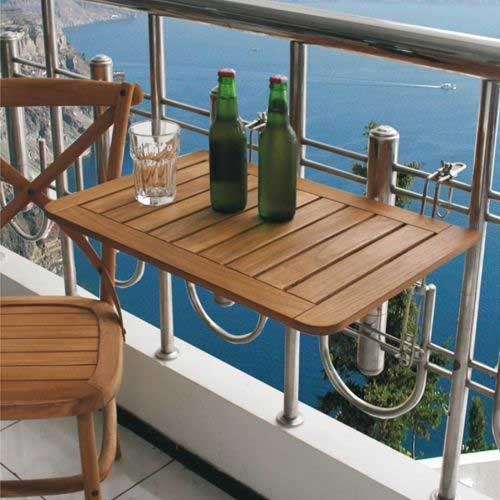 5 mesas plegables perfectas para balcones peque os mil for Table de balcon ikea