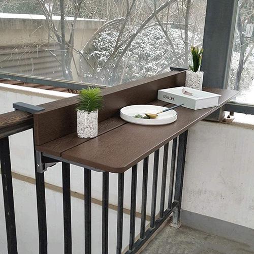 Mesa barra plegable para barandilla de balcón y terraza