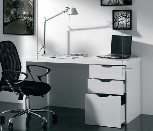 Muebles escritorios mil ideas de decoraci n - Escritorio blanco ...