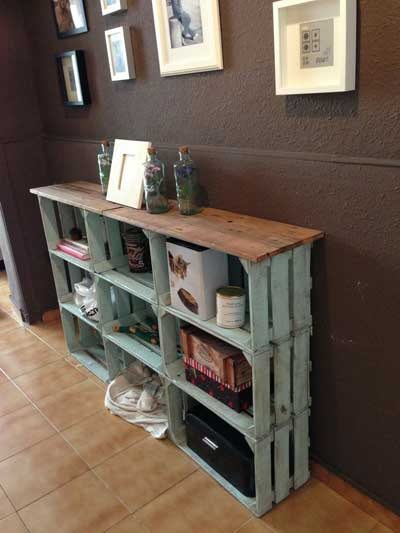 20 ideas para decorar con cajas recicladas mil ideas de for Diy cassette shelf