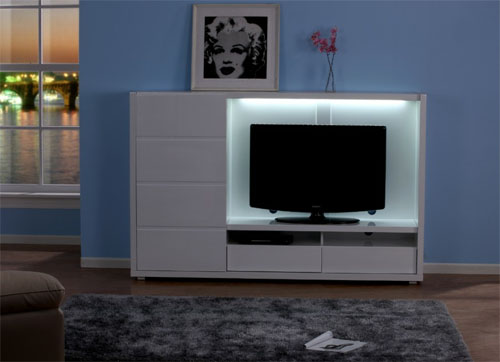 mueble tv luminoso