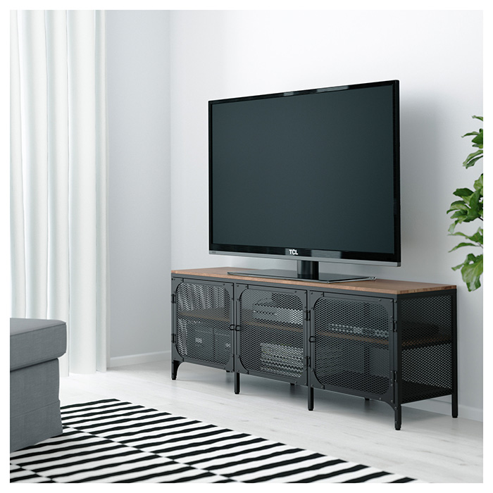 Mueble para TV que oculta cables y dispositivos