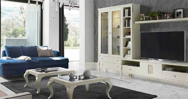 Decoraci n de salones con muebles cl sicos mil ideas de for Muebles salon clasico moderno