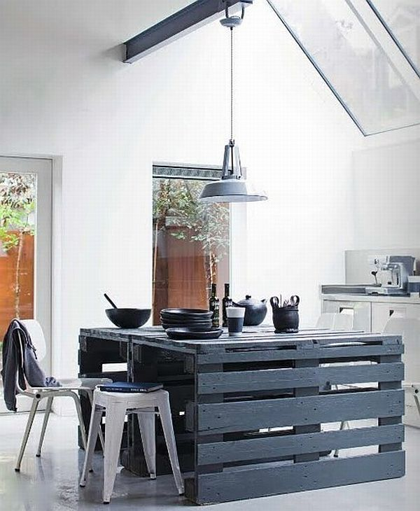 10 ideas para hacer una mesa con palets de madera  Mil Ideas de