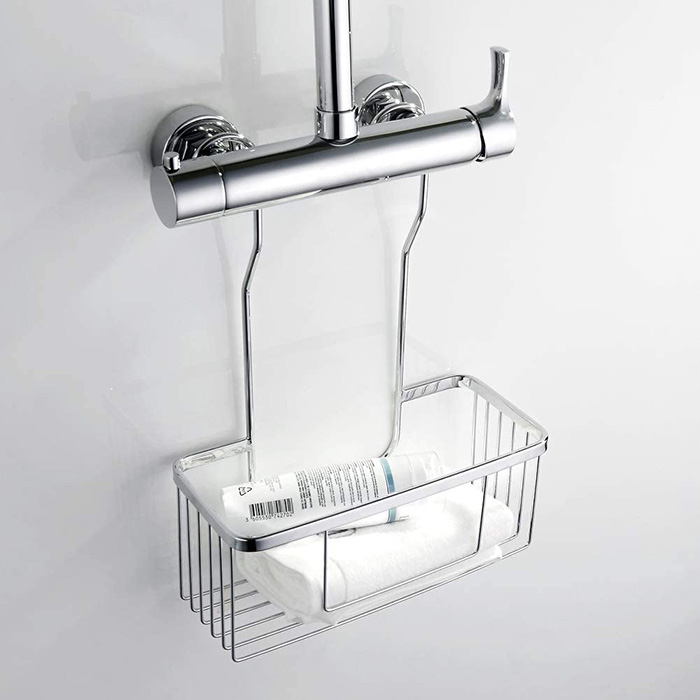 Shower tray without holes