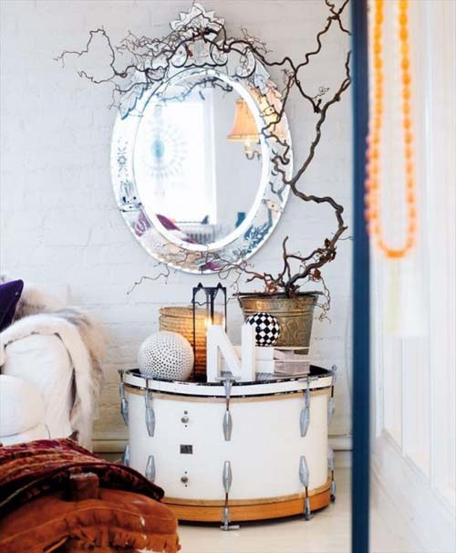 22 originales y encantadoras mesillas de noche mil for Decoracion de interiores ideas originales