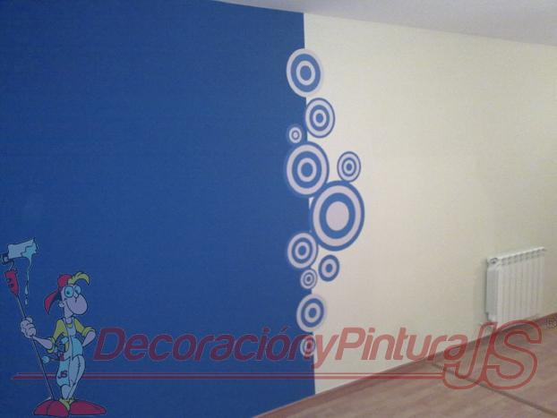 Una buena idea para pintar las paredes de tu casa pintar en 2 colores separados por un vinilo - Pintar paredes de dos colores ...