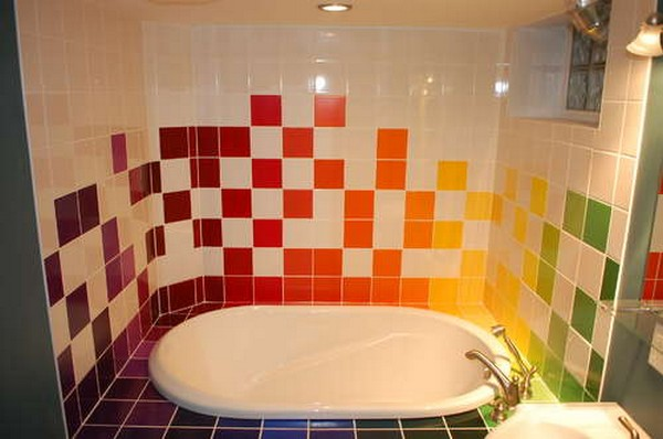 Azulejos Baño Pequeno:Rainbow Bathroom Tiles Design Ideas