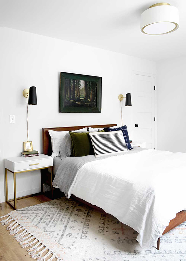 Small room painted white