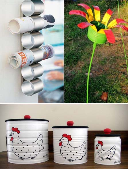 Reciclar Ideas Decoracion ~   Ideas Diy para reciclar y decorar con latas de hojalata  Mil Ideas