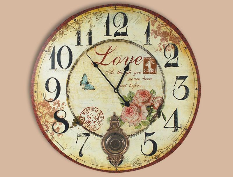Reloj de pared retro love mil ideas for Reloj pared retro