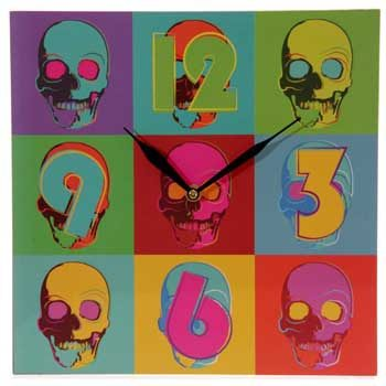 reloj_pared_calaveras_pop_art