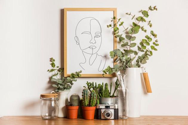 Retrato minimalista de una mujer