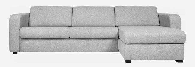 Sofá rinconero o chaise longue cama gris