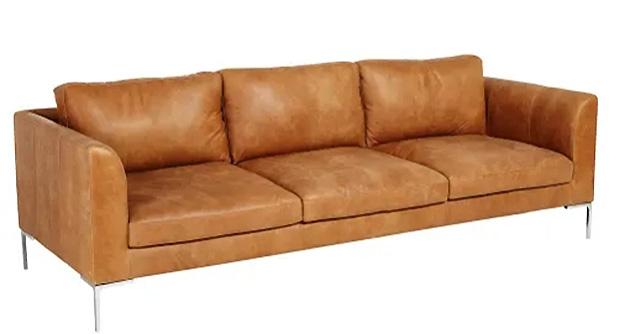 Sofá de cuero de Maisons du Monde Hayden
