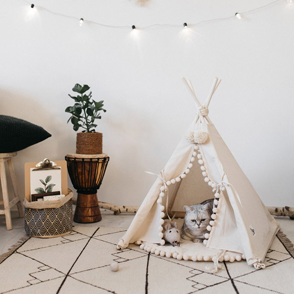Adorable tipi indio para gatos