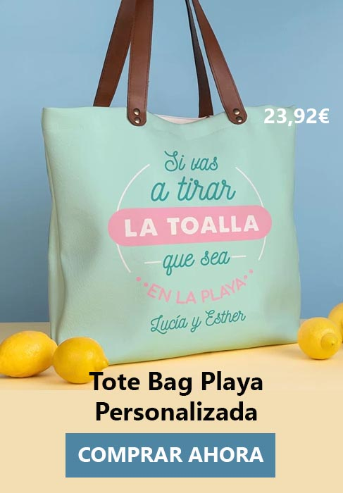 Tote Bag Playa y piscina