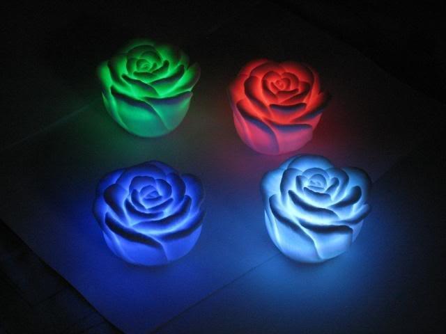 velas flores led