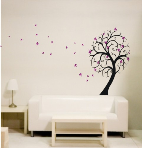 Decoracion arbol pared for Vinilos decorativos arboles