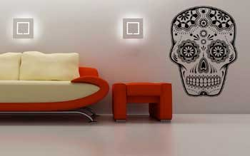 vinilo-calavera-mexicana-pared