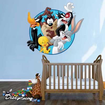 vinilo-decorativo-habitacion-infantil-looney-tunes