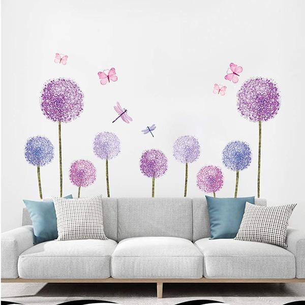 Vinilo decorativo detrás del sofá