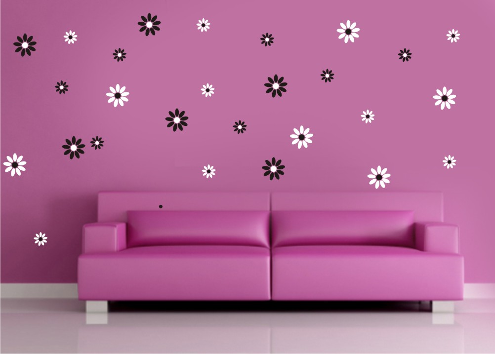 Vinilos adhesivos para pared florales mil ideas de for Vinilo para dormitorio adultos